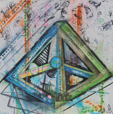 Collages, collages, abstrait, œuvre d'art par Jez Bb